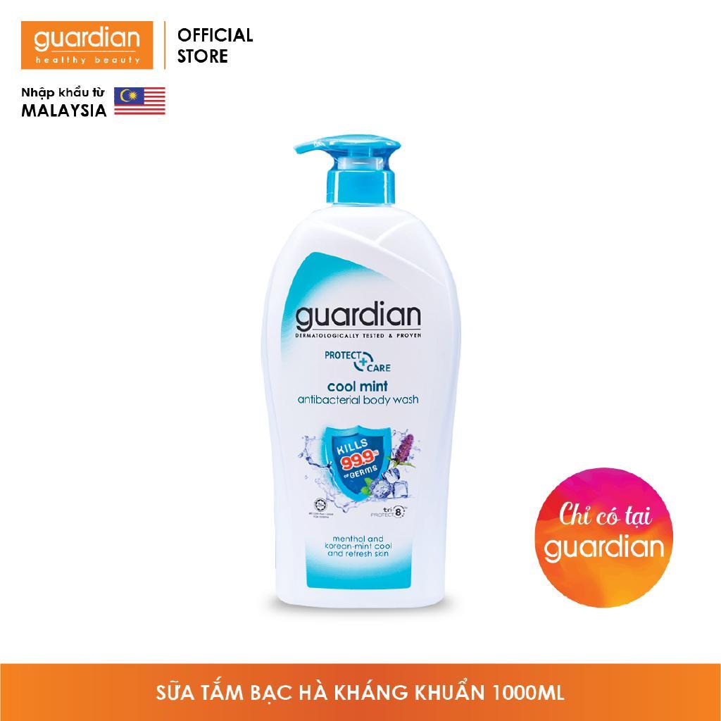 Sữa tắm Guardian Bạc Hà kháng khuẩn 1000ml