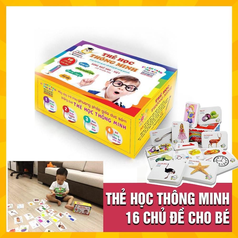 Bộ thẻ Flashcards song ngữ Anh-Việt 16 chủ đề bé học hỏi thông minh hơn