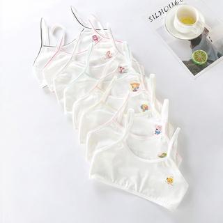 Áo lót bé gái mới lớn 2 dây cotton, bra học sinh từ 20-40kg thumbnail