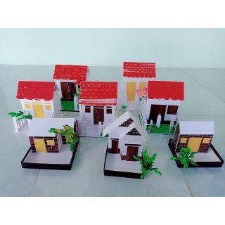 Đồ dùng mầm non, ngôi nhà, khuôn viên nhà