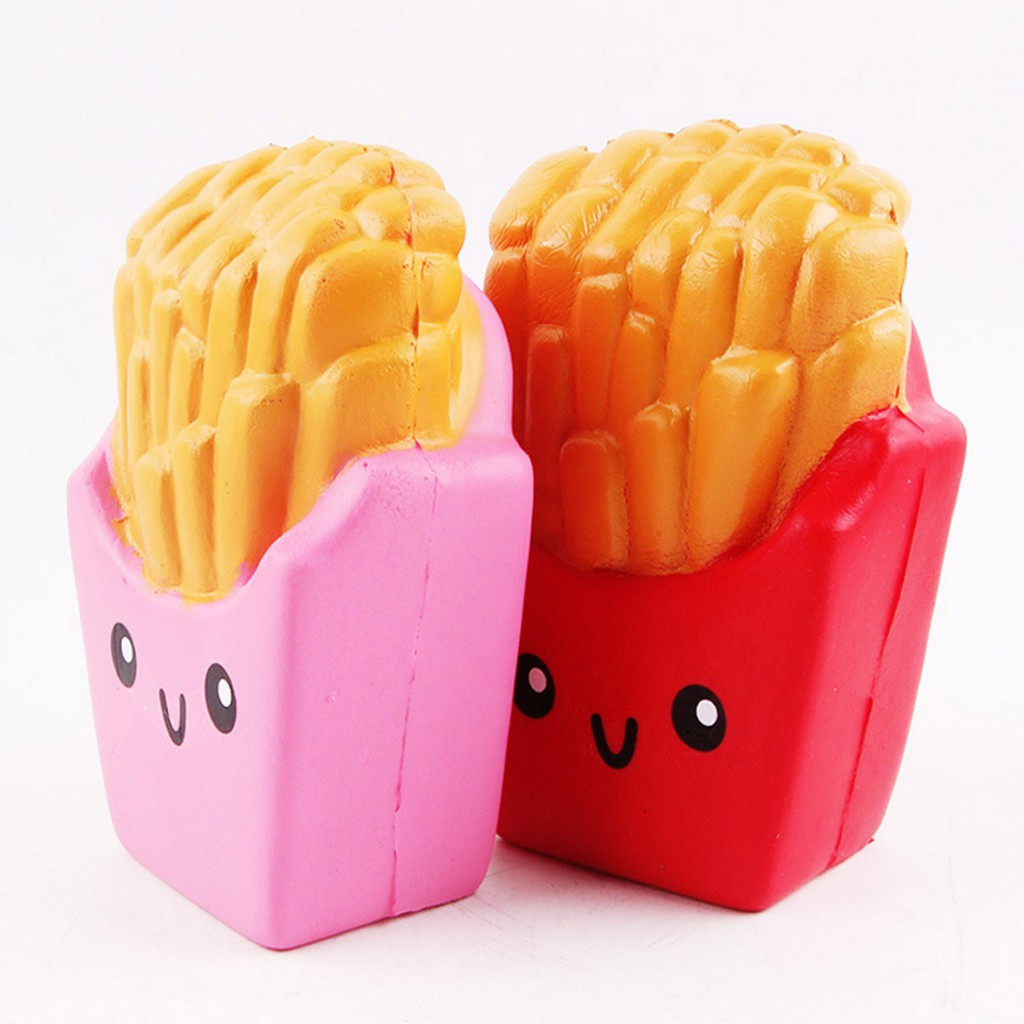 Squeeze Toy Scented French Fries Slow Rising Stress Reliever Soft Squishy Toy