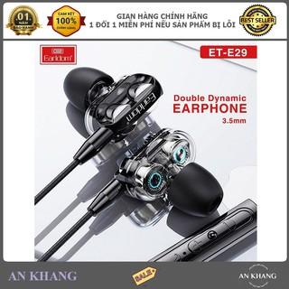 Tai Nghe Có Dây 2 Bass EarlDom ET-E29 – Hàng Chính Hãng (Bảo Hành 12 Tháng)