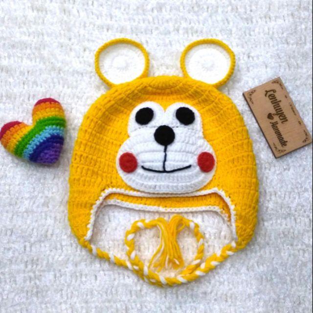 Nón len handmade hình gấu vàng cho bé - 14566197 , 1628135822 , 322_1628135822 , 100000 , Non-len-handmade-hinh-gau-vang-cho-be-322_1628135822 , shopee.vn , Nón len handmade hình gấu vàng cho bé