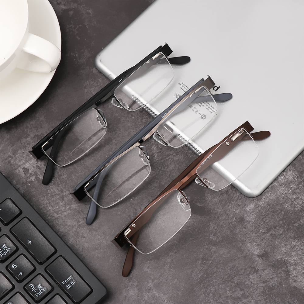 💜LAYOR💜 Men Business Reading Glasses Magnifying +1.00~+4.0 Diopter Eyeglasses Flexible Portable New Fashion Ultra Light Resin Metal Titanium Alloy Eye...