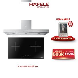 [PROMO] Máy Hút Mùi Gắn Tường Hafele HH-WI70C (70cm) + Bếp Từ 2 Vùng Nấu Hafele 770x450mm HC-IS772EA