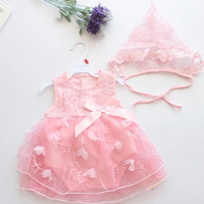 Tổng hợp váy body công chúa chất liệu cotton đũi mát cho bé sơ sinh-2 tuổi tặng kèm mũ/băng đô HÀNG LOẠI 1 Y ẢNH
