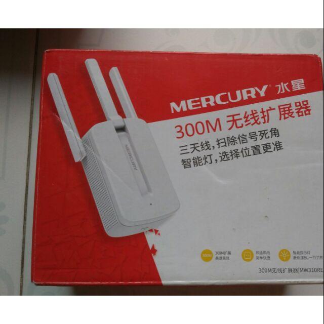 [Nhập ELCLMAY hoàn 30K xu đơn từ 200K]Kích sóng wifi mercury 3 râu 300 mbps Giá chỉ 160.000₫
