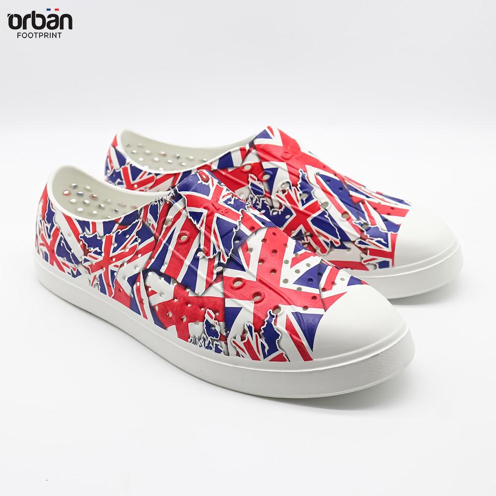 Giày nhựa eva Urban Footpritn D2001 in hình cờ anh chính hãng