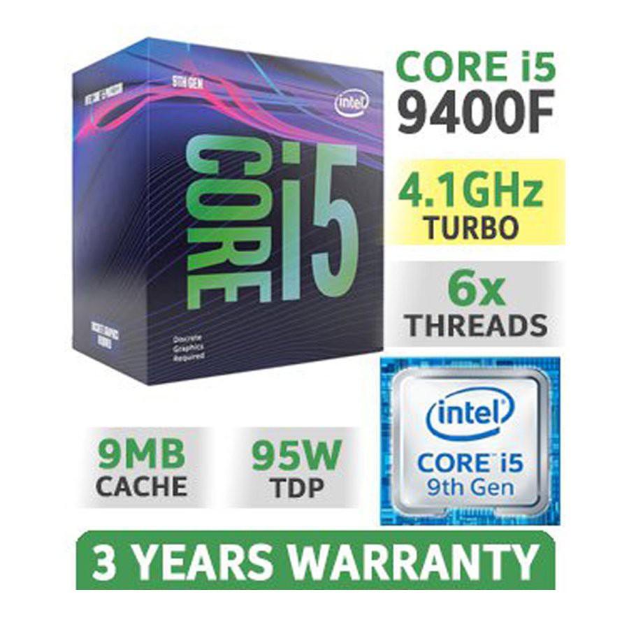 Bộ vi xử lý Intel Core i5-9400F Full box nguyên seal BH 36 Tháng