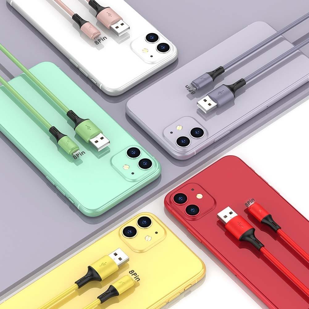 Dây Cáp Sạc Nhanh 1m Type-C 8pin 3a Tiện Dụng Cho Iphone Android