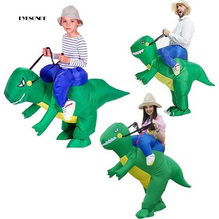 ♕Kids Adults Inflatable Cartoon Ride Dinosaur Halloween Party Role Play Costume