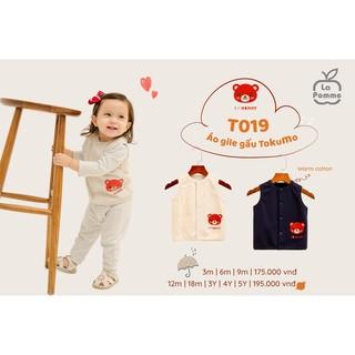 T019 Áo Gile gấu Tokumo I love Mommy