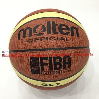 Bóng rổ số 7 Molten GG7X / GL7 FIBA da PU cao cấp (Tặng kim bơm, túi lưới) chơi sân indoor trong nhà, nam THPT