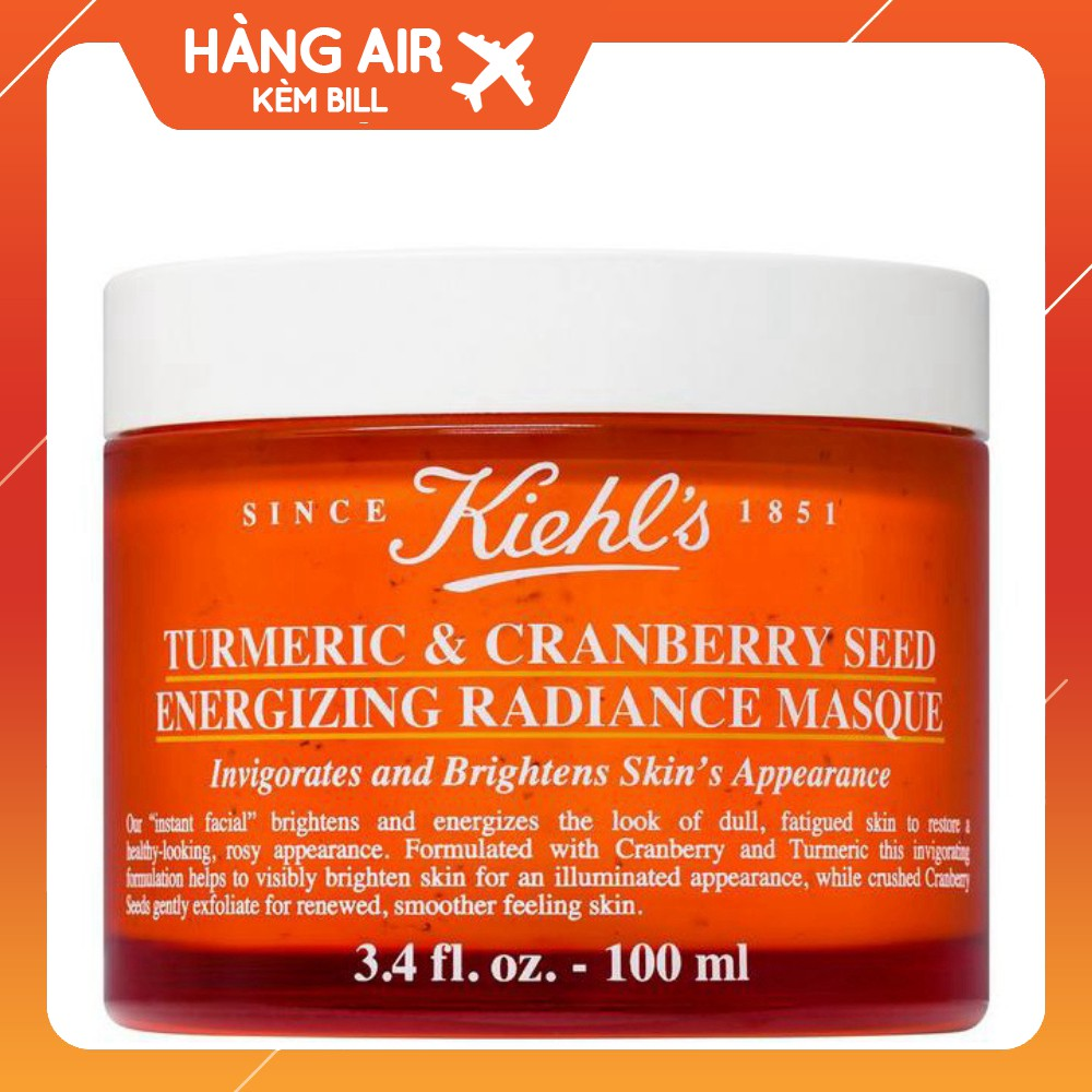 Mặt Nạ Nghệ Việt Quất Kiehl's Turmeric & Cranberry Seed Energizing Radiance Masque 100ML