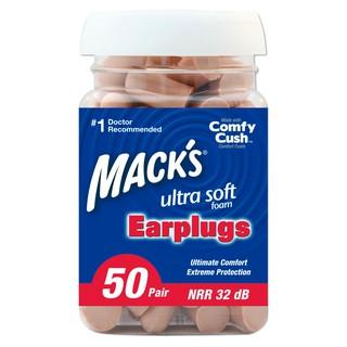 Hộp 50 đôi nút bịt tai chống ồn Mack s Ultra Soft Foam dành cho ngủ ngon