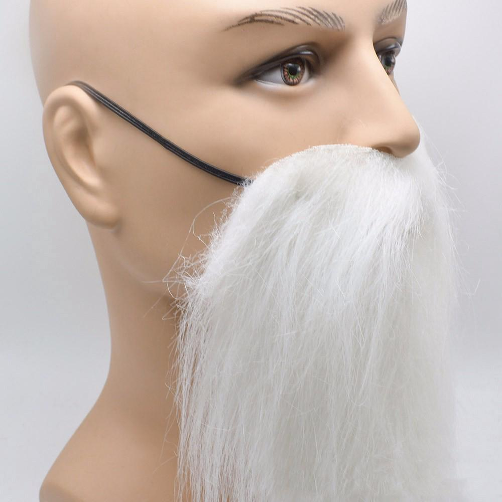 Black White Fake Moustache Beard Whisker Cosplay Dress Up Props Birthday Party