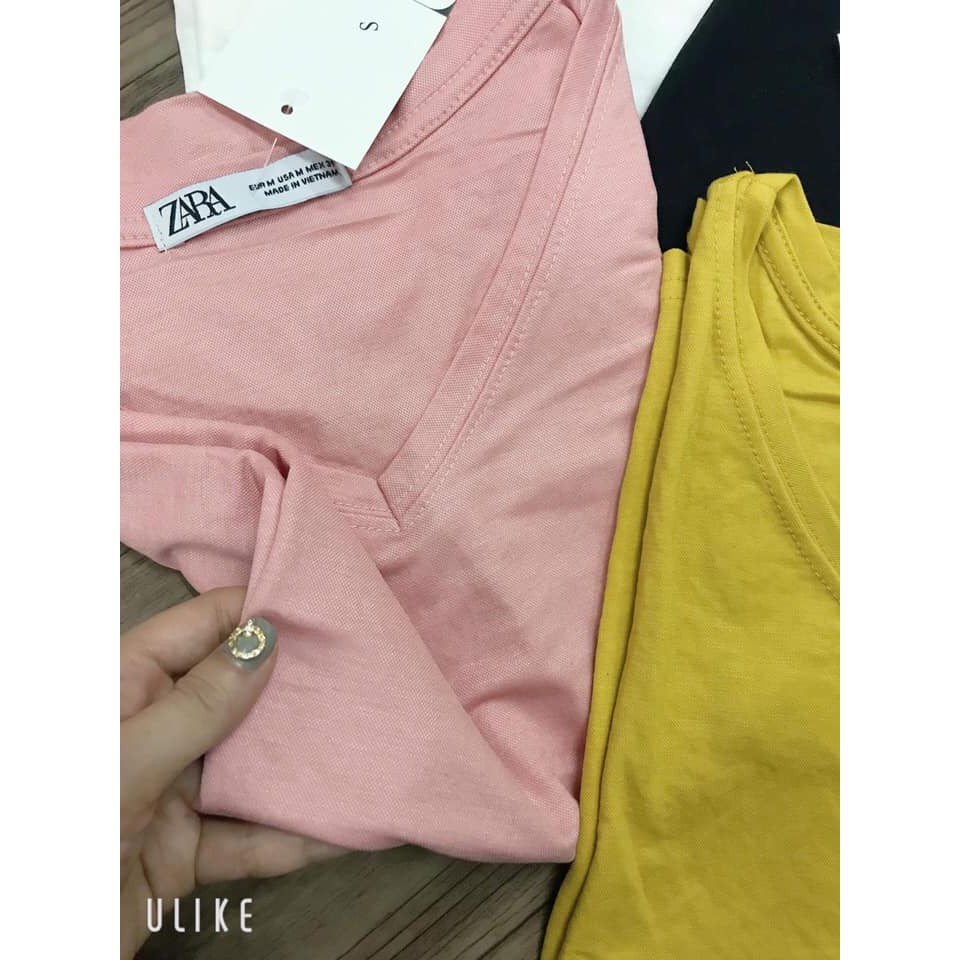 [HOT NEW] Áo phông cổ tim - Áo thun lụa giấy siêu hot
