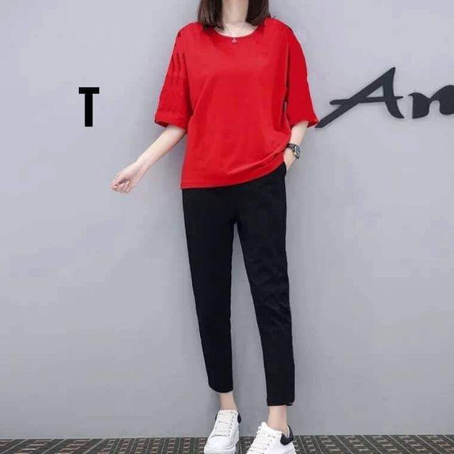 Sét bộ quần baggy áo thụng xuông _Tr