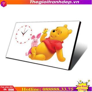 Tranh đồng hồ bàn gấu Pood tặng bé
