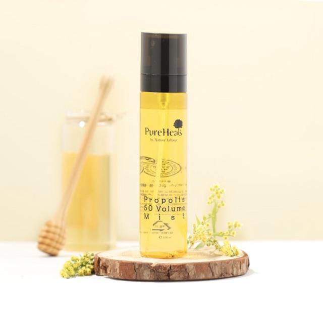 Xịt dưỡng da keo ong cấp ẩm Pureheals Propolis 50 Volume Mist