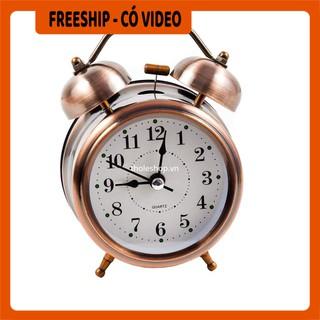 Đồng hồ báo thức  BH 1 THÁNG  Đồng hồ báo thức chuông reo, nhỏ gọn, xinh xắn, có thể trang trí căn phòng của bạn 553