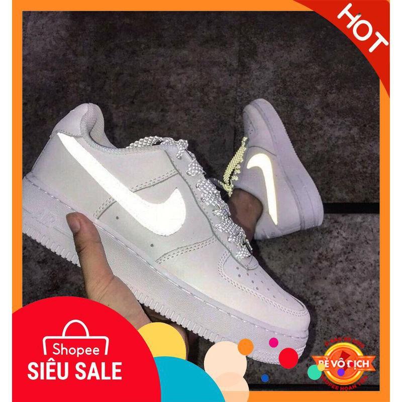 ⚡️[BIG SALE] Giày Nike Air Force One Trắng Full Phản Quang Cao Cấp