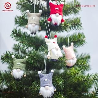 Búp Bê Mini Bằng Len Hình Mặt Cười Dễ Thương Treo Trang Trí Cây Thông Giáng Sinh
