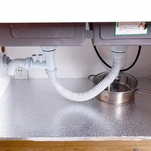 ⚡FreeShip⚡ Cuộn giấy bạc dán bếp cách nhiệt, miếng decal dán tường nhà bếp chống thấm bền đẹp