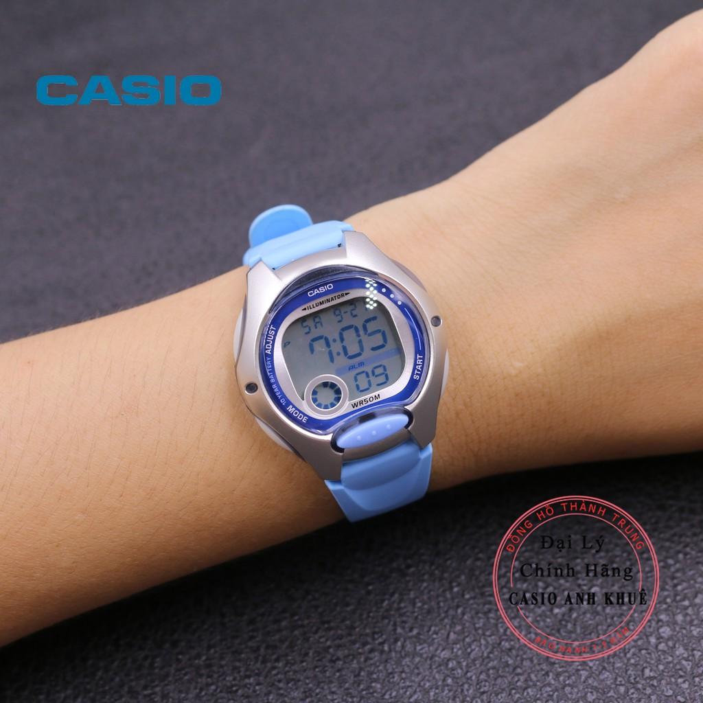 Đồng Hồ Nữ Casio LW-200-2BVDF Dây Nhựa