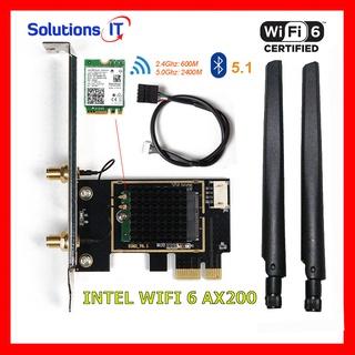 Card WIFI Intel AC 3168 7265 9260 AX200 AX210 có tản nhiệt cho máy bàn