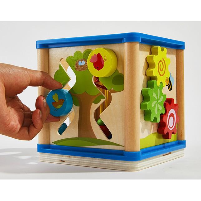 Hộp Lập Phương 6 Mặt Phát Triển các kĩ năng cơ bản cho bé-Đồ chơi gỗ-giáo dục mầm non