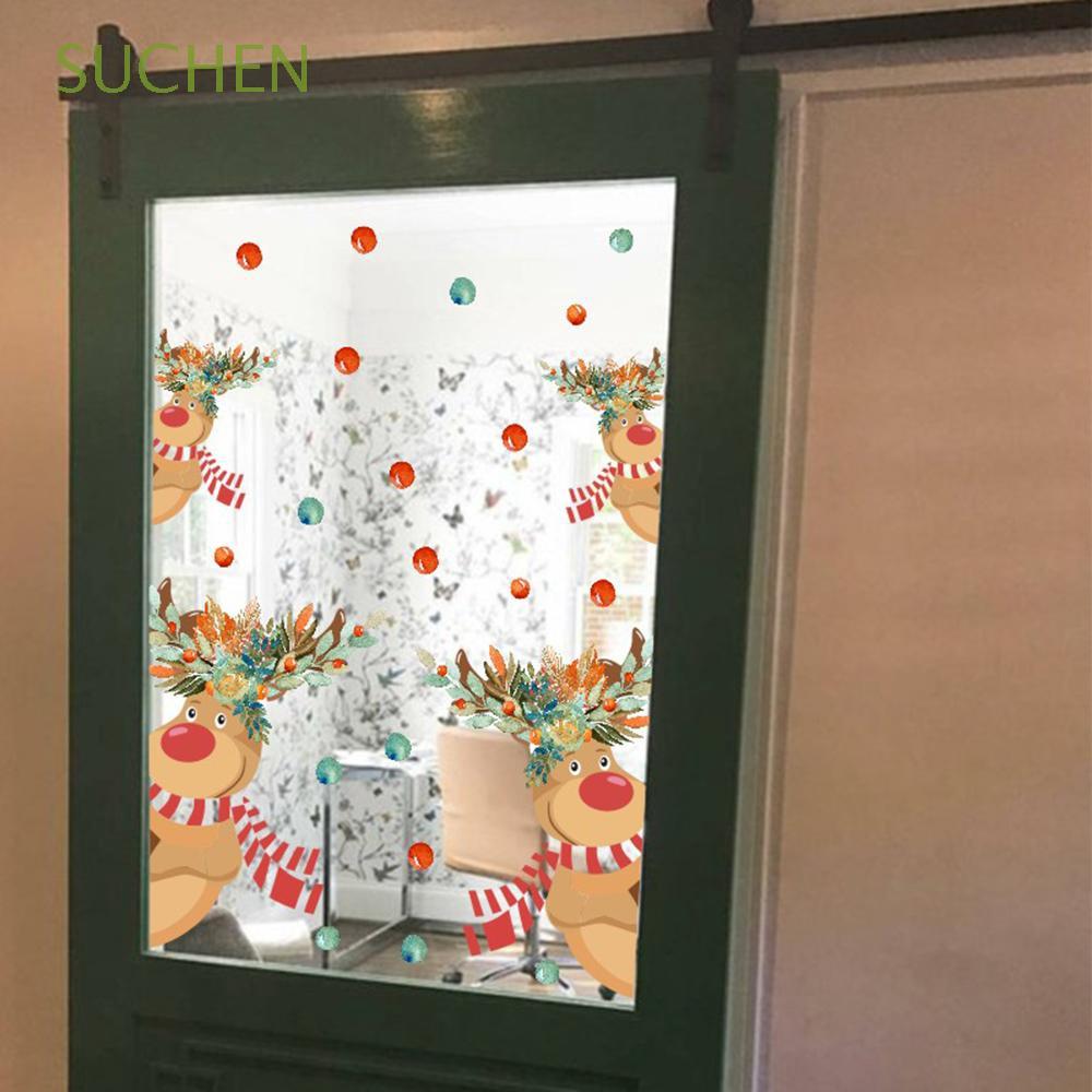 SUCHEN Furniture Adornment Self-adhesive Home Decor Glass Window Ornament Featival Supply PVC Wall Stickers