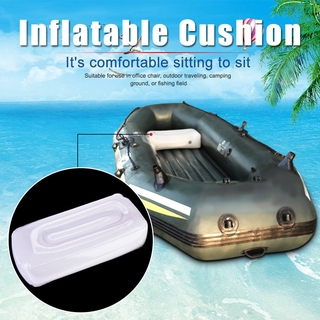 [READY STOCK] Folding Sitting Cushion Inflatable Thick Seat for Outdoor Camping Fishing White