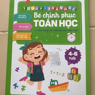 Sỉ 10 bộ Bé chinh phục toán học cho bé 4 – 6 tuổi – NXB ĐH Quốc gia