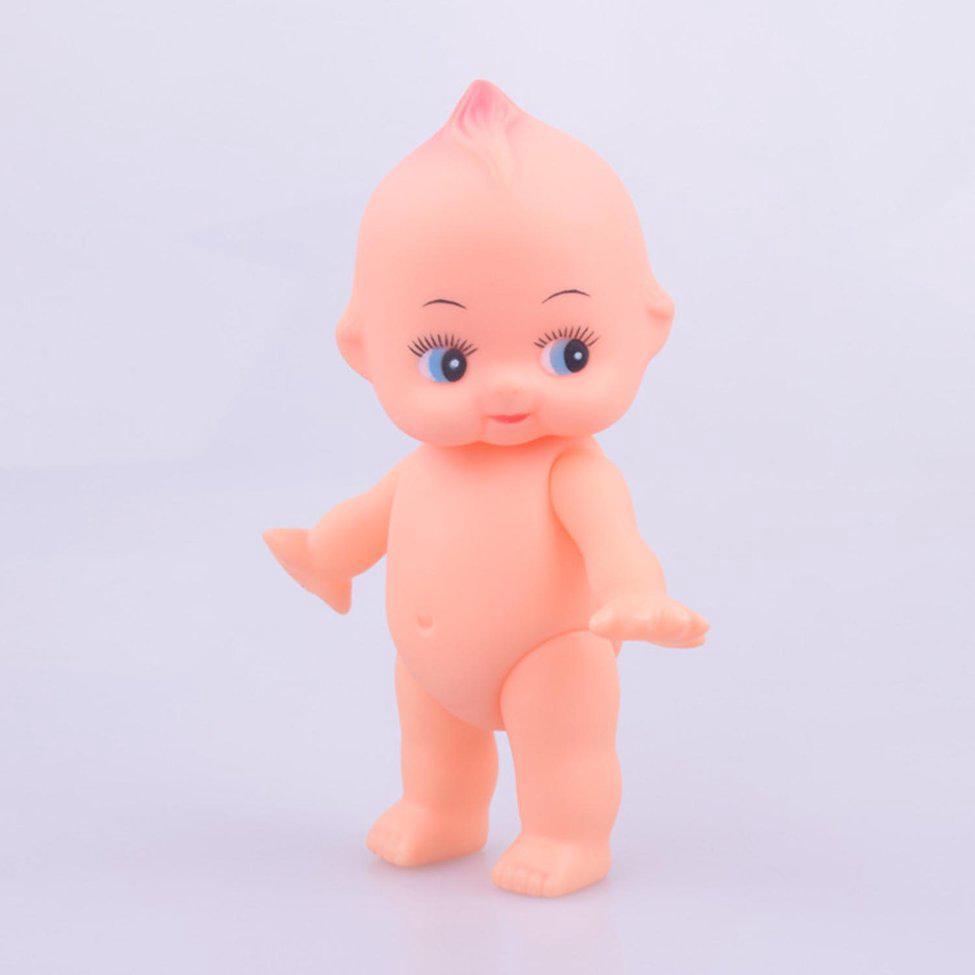 Soft rubber doll bath baby rotatable head and limbs