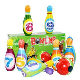 Dis Mini Bowling Club Set Outdoor Sports Toys Outdoor Sports Games Parent-Child Interaction Plastic