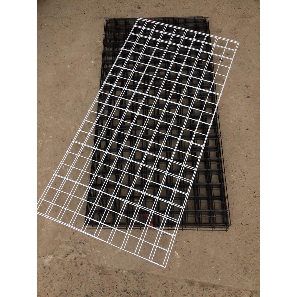 Tấm Lưới Sắt treo phụ kiện sợi 2,5 ly, kích thước 100 x50 cm(khung lưới, lưới ghép)