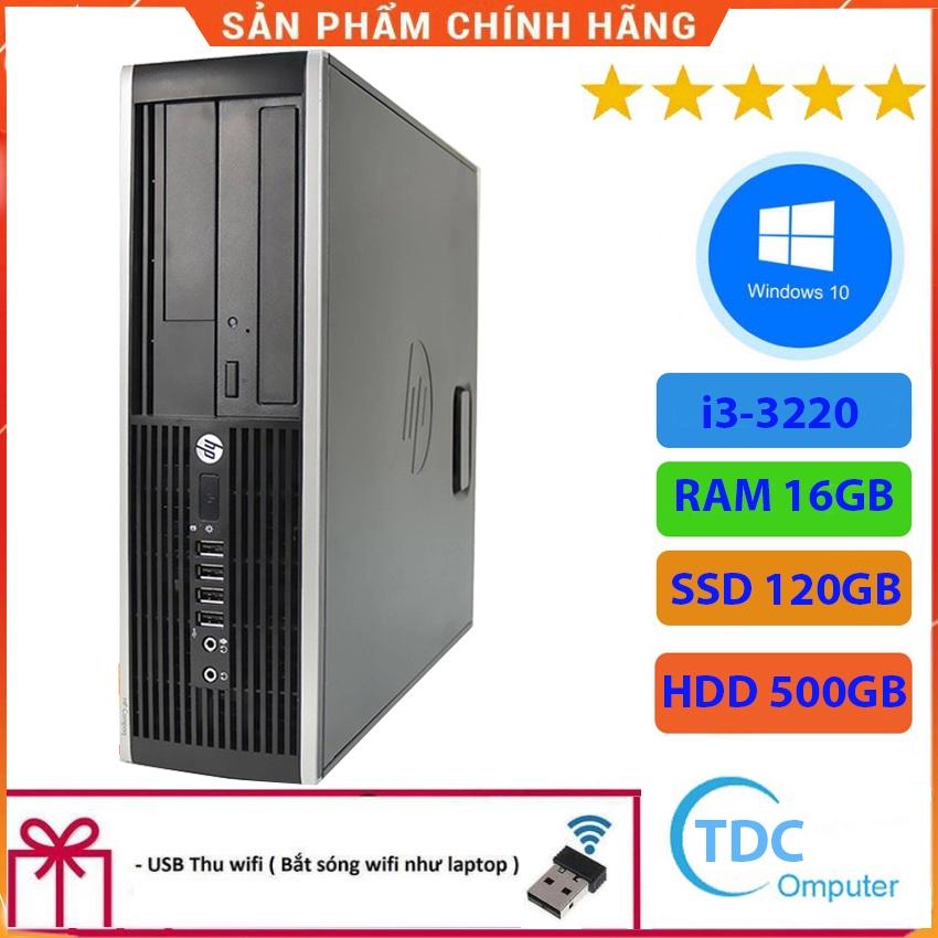 Case máy tính để bàn HP Compaq 6300 SFF CPU i3-3220 Ram 16GB SSD 120GB HDD 500GB Tặng USB thu Wifi, Bảo hành 12 tháng