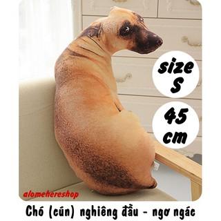 Chó cún nghiêng đầu liếc nhìn – ngơ ngác Size S 45cm