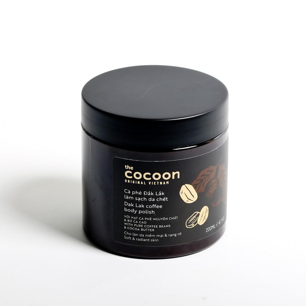 Cà phê Đắk lắk làm sạch da chết COCOON 200ml (Dak lak coffee body polish)