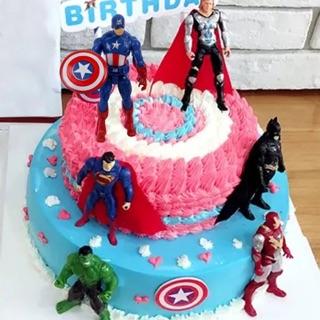 Bộ 6 siêu anh hùng trang trí bánh phụ kiện sinh nhật