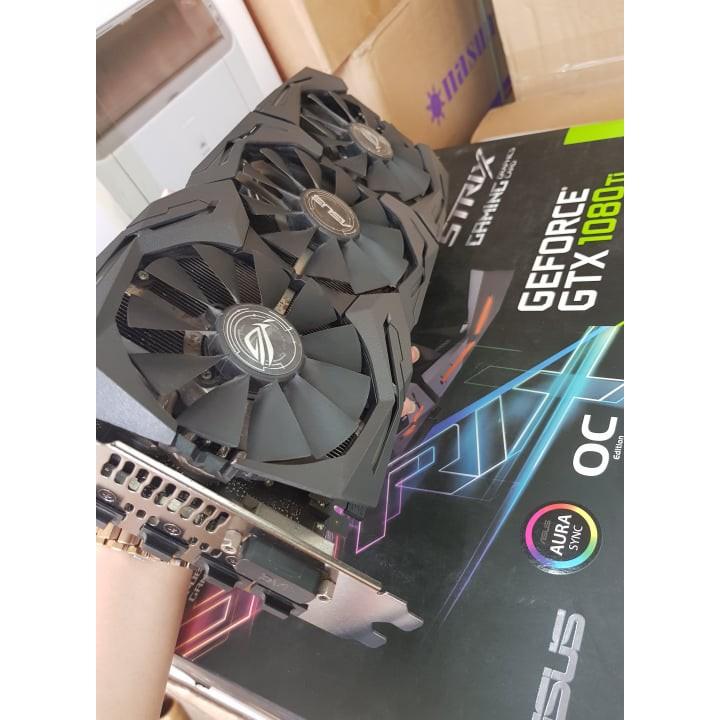 Vga Card ASUS ROG STRIX GTX 1080TI – 11G – GAMING FULL BOX BH T9/ 2020 Giá chỉ 12.200.000₫