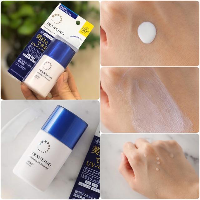 Kem chống nắng (kem dưỡng ngày) Transino Whitening UV Protector 30ml mẫu  mới 2020   Shopee Việt Nam