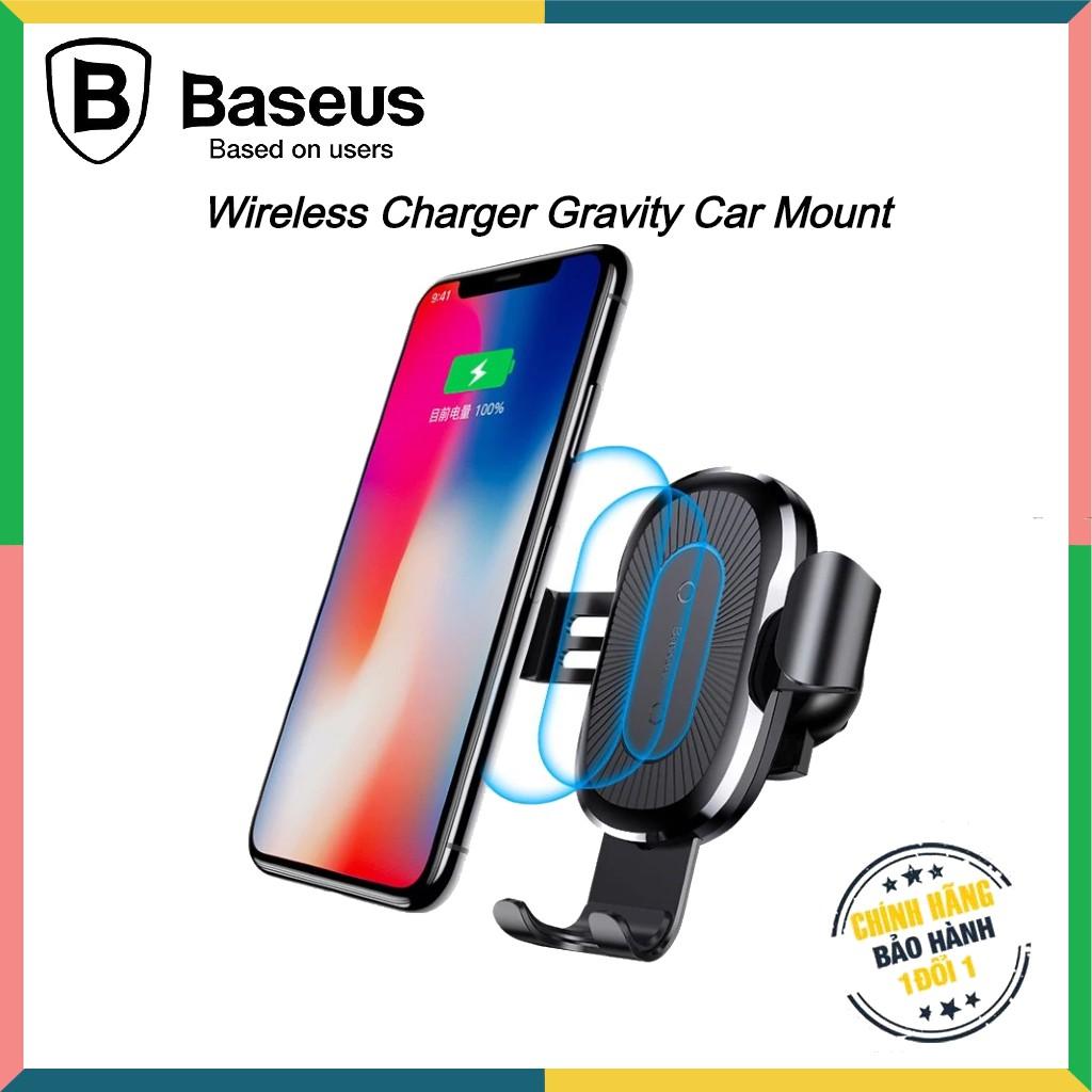 Bộ đế giữ điện thoại khóa tự động tích hợp sạc không dây dùng cho xe hơi Baseus [ Chính Hãng ]