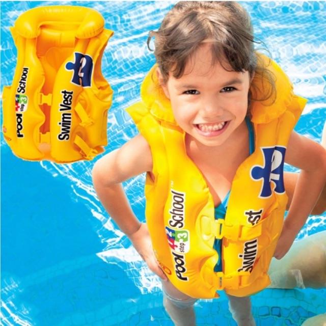 Áo phao bơi INTEX 58671 CHÍNH HÃNG cho bé 3-6 tuổi