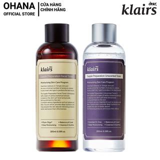 Nước hoa hồng Dear, Klairs Supple Preparation Toner 180ml