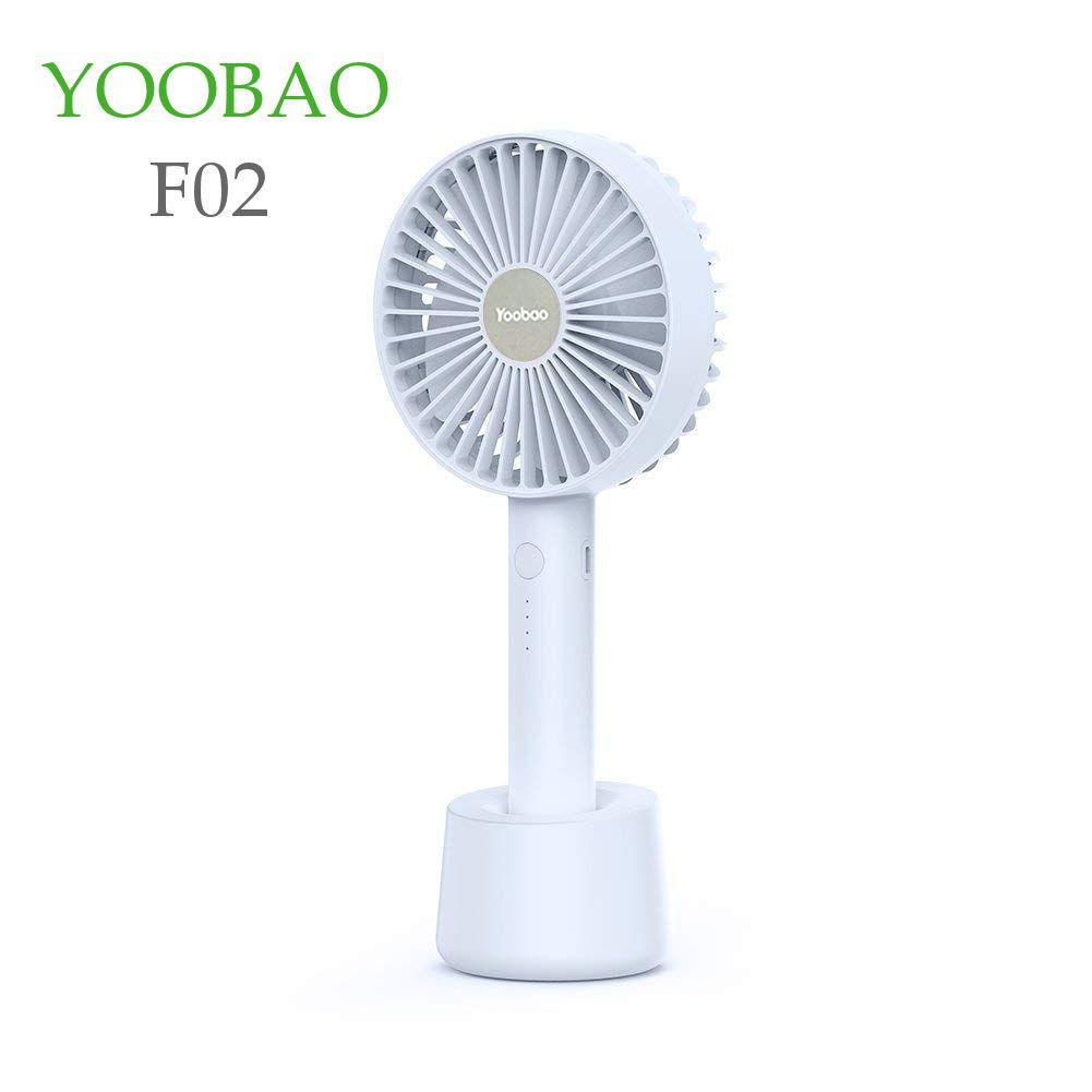 Quạt sạc mini YOOBAO Yo_F02 dung lượng 2000-2500mAh, có thể cầm tay hoặc đặt bàn