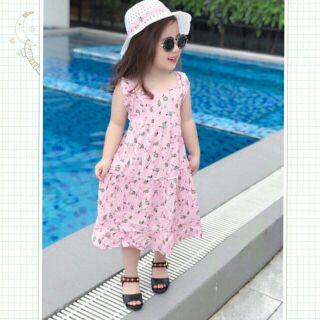 Váy cho bé kèm mũ cho bé