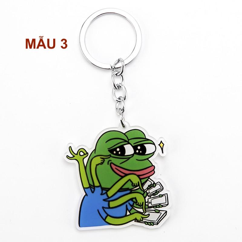 Móc khoá acrylic ếch xanh Pepe siêu bựa