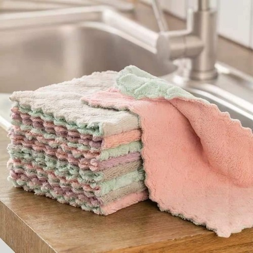 Khăn lau bếp đa năng 2 mặt mẫu mới siêu thấm nước , siêu mềm mịn